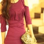 The Burgundy Dress