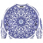 Ceramic Print Sweatshirt