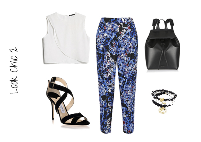 lookchic 2 printed pants