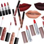 Labiales Matte: Nyx, Maybelline, Kylie Cosmetics y MAC