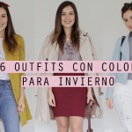 6 outfits con color para invierno