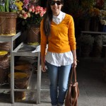 Chompita+Camisa+Jeans+Botas= Clásico